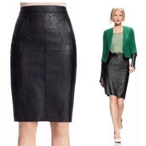Cabi vegan leather pencil skirt